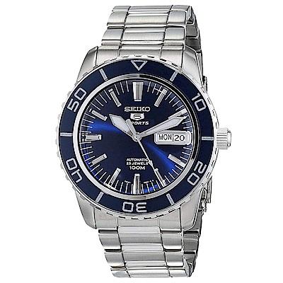 SEIKO 王者風範夜光自動上鍊5號機械錶(SNZH53K1)-藍/41mm