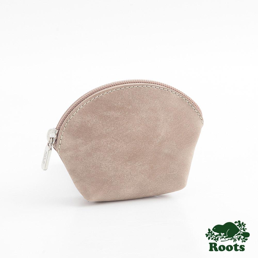 Roots-配件-貝殼小零錢包-棕