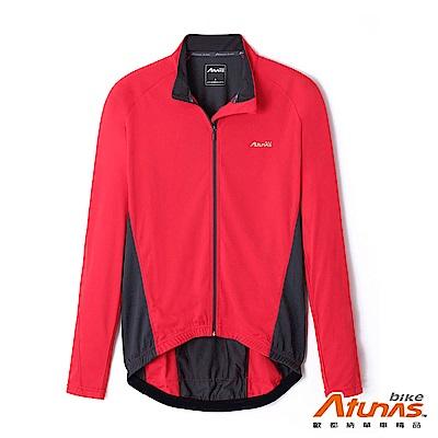 《Atunas Bike》歐都納 單車 B11036M 吸濕排汗車衣外套 紅/深灰