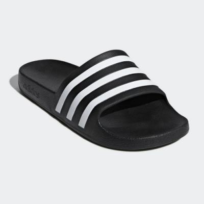 adidas 涼拖鞋 休閒 運動拖鞋 男女鞋 黑 F35543 Adilette Aqua
