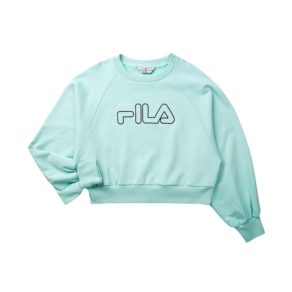 FILA #LINEA ITALIA 長袖圓領T恤-淺綠 5TET-5422-LN
