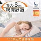 日本藤田-圓舞曲棉柔舒適乳膠床墊-雙人加大(厚8cm)