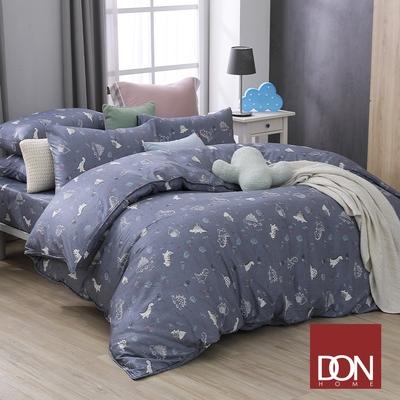 【DON】吸濕排汗天絲兩用被床包四件組- 雙人-恐龍園