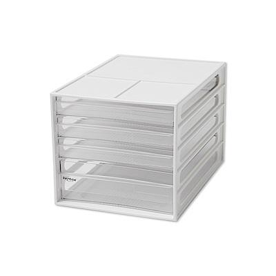 完美主義 桌上型四抽資料櫃/文件櫃2入組 (2色)