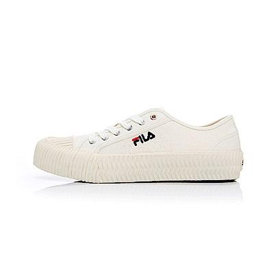 (男)FILA中性餅乾帆布鞋-米白