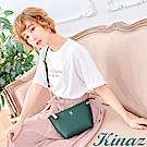 KINAZ 微風香氛鏈帶斜背包-湖水綠-常春藤系列