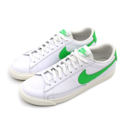 Nike BLAZER LOW LEATHER 男 休閒鞋 白綠(CI6377105)