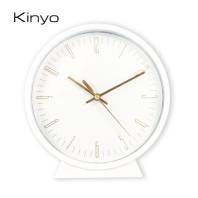 KINYO北歐風三合一桌掛鬧鐘(白)ACK7115W