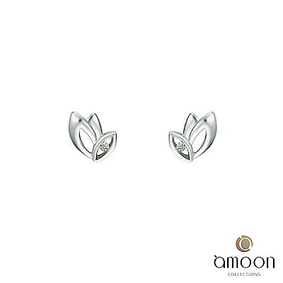 amoon 浪漫艾菲爾系列 飛舞 K金鑽石耳環