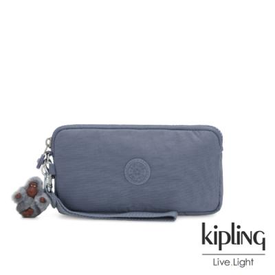 Kipling 沉穩霧藍色手拿包-LOWIE