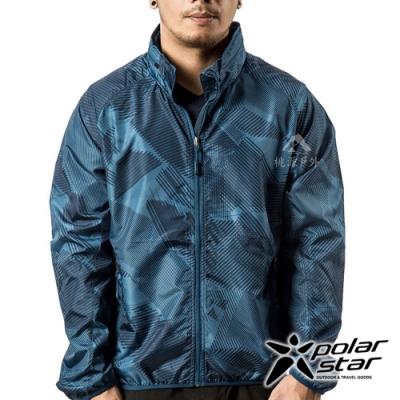 PolarStar 中性 抗風連帽外套『深藍』P19149