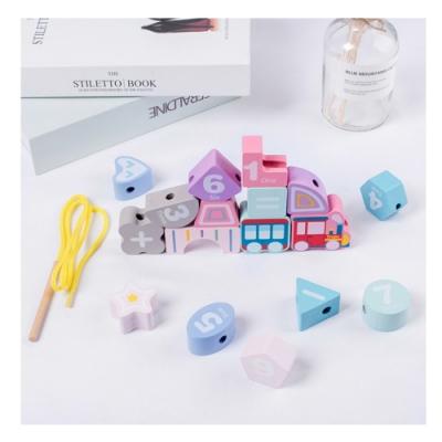 經典木玩 馬卡龍繽紛數字串珠學習木玩具(兒童教育玩具)36m+