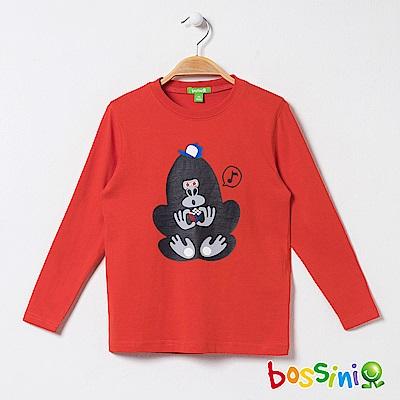 bossini男童-印花長袖T恤05橘