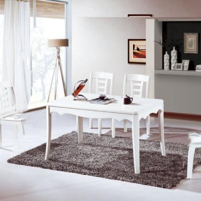 MUNA 凱達4.3尺白色餐桌(不含椅) 130X80X76cm