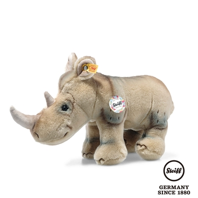 STEIFF德國金耳釦泰迪熊    Nasilie Rhinoceros  納西莉犀牛  (動物王國)