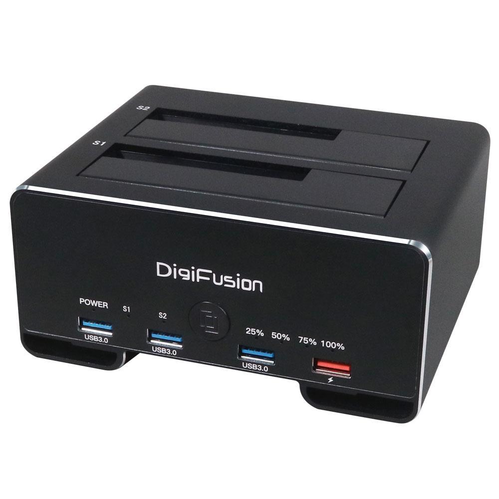 """USB3.1 Gen1 2.5/3.5"""" 雙SATA 鋁合金硬碟拷貝機+HUB"""