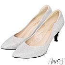 Ann'S低調奢華-絕美弧線閃耀跟鞋 -白(版型偏小)