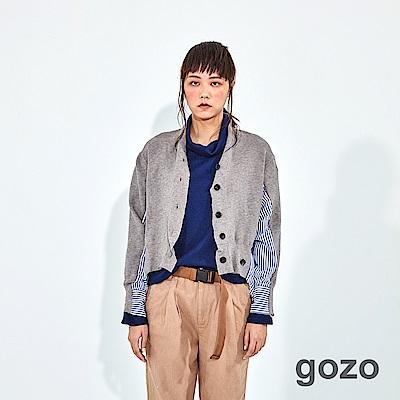 gozo 條紋針織拼接造型上衣(二色)