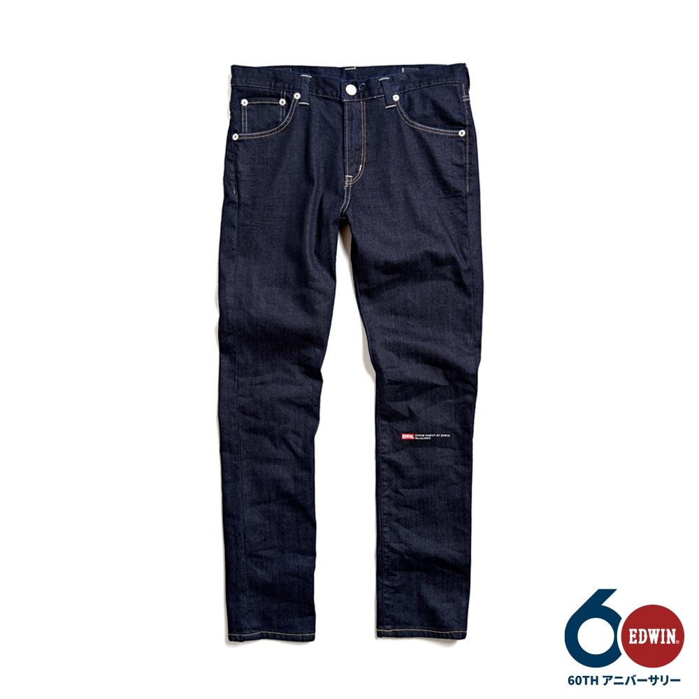EDWIN 60週年限定W水墨窄管牛仔褲-男-原藍色