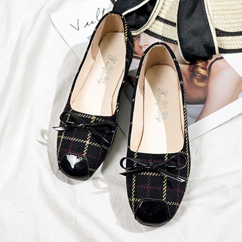 韓國KW美鞋館 好評加碼絕世平底鞋-黑色