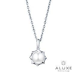 ALUXE 亞立詩 寵愛系列Beloved 18K金6mm淡水珍珠項鍊