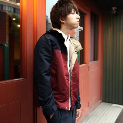 登山外套連帽夾克迷彩拼接18色ZIP日本男裝