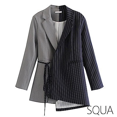 SQUA 不規則拼色西裝外套