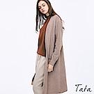 長版雙口帶針織外套 共二色 TATA-動態show