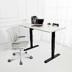 Birdie南亞塑鋼-艾爾4.7尺電動升降工作桌(大理石灰)140x70x70~120cm