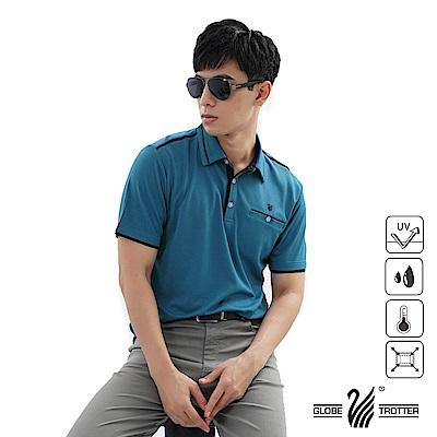【遊遍天下】男款吸濕排汗抗UV機能POLO衫GS1039寶藍黑