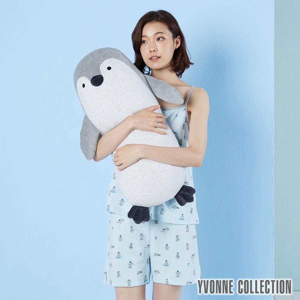 Yvonne Collection 企鵝長型抱枕-淺灰