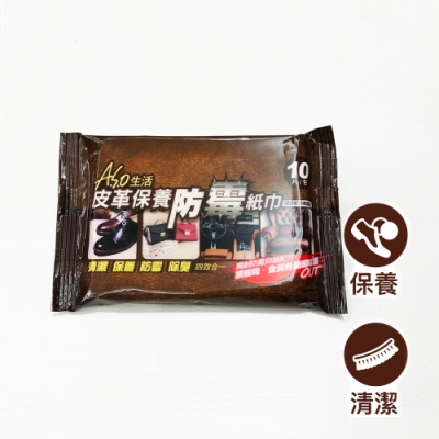 A.S.O 皮革保養防霉紙巾-5包入(10片/包)