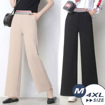 【LANNI 藍尼】時尚達人直筒闊腿褲-2色(九分/全長 M-3XL)●