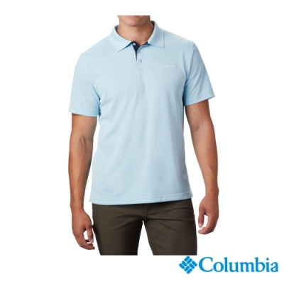 Columbia 哥倫比亞 男款- Omni-SHADE防曬30快排POLO衫-藍色