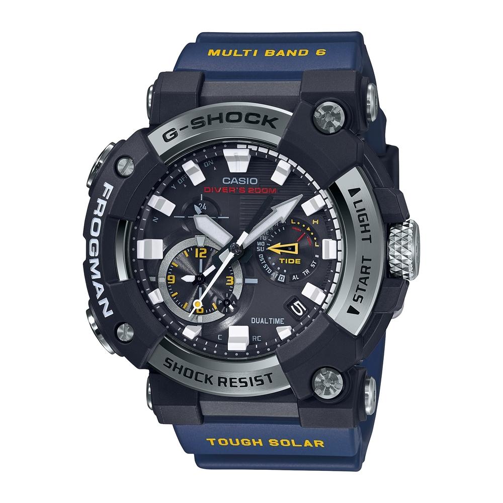 CASIO卡西歐 G-SHOCK 電波 藍牙 太陽能電力 蛙人錶 潛水級防水 GWF-A1000-1A2_53.3mm
