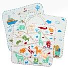 動物世界SG345K/歡樂的森林樂隊SG346K/蜂蜜小熊SG492K小手巾-12條入