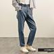 H:CONNECT 韓國品牌 女裝 -紙袋褲頭高腰Baggy牛仔褲-藍色 product thumbnail 1
