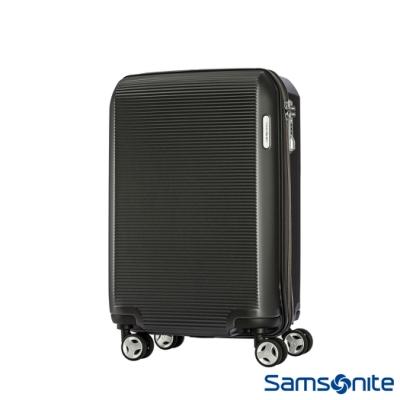 Samsonite 新秀麗 20吋ARQ 2/8開懸吊抗震減音PC硬殼登機箱(石墨黑)