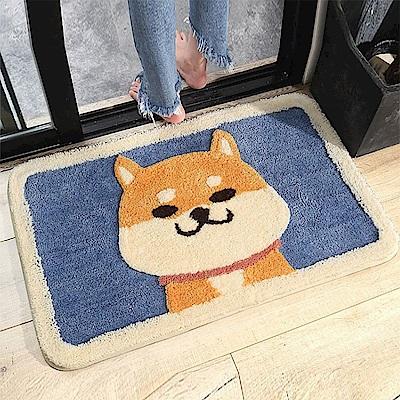 可愛小柴犬 腳踏墊/地墊/地毯/吸水墊/防滑墊