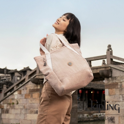 Kipling 活力粉大容量托特包-ALMATO