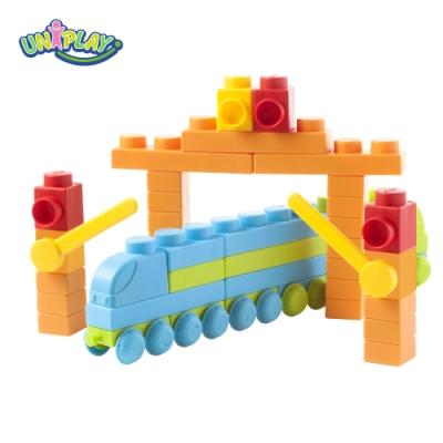 UNIPLAY抗菌軟積木 交通系列 火車升級組