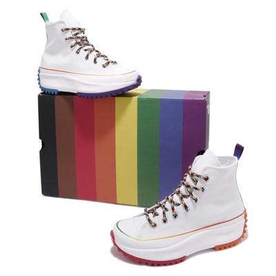 Converse 休閒鞋 Run Star Hike Hi 男女鞋 厚底 增高 高筒 鴛鴦 米白 多