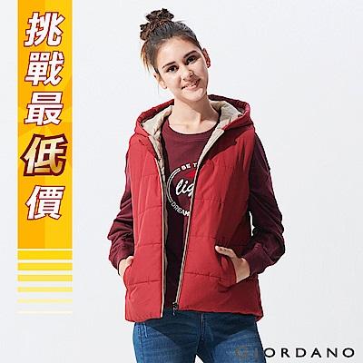 GIORDANO-女裝素色輕量連帽鋪棉背心-14