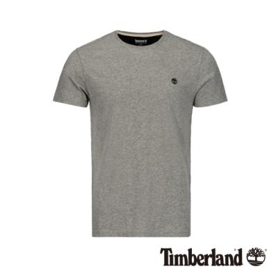Timberland 男款中麻灰圓領修身短袖T恤|A1MH6