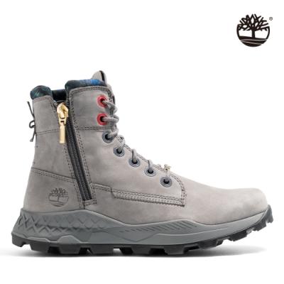 Timberland 男款鐵灰色磨砂革側拉鍊靴|A41AW