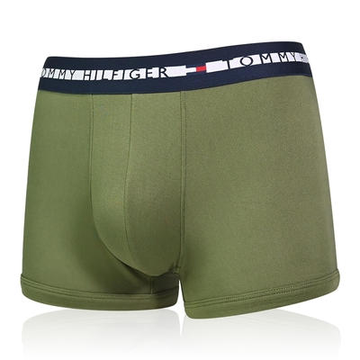 Tommy Hilfiger Th Comfort 男內褲 莫代爾纖維絲質 合身平口褲/Tommy四角褲-草綠