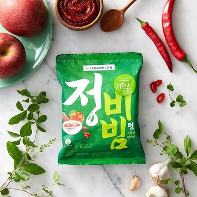 【韓味不二】pulmuone 正白紅系列拌麵 - 乾拌麵(正) 蔬菜拌麵 (4入/袋)