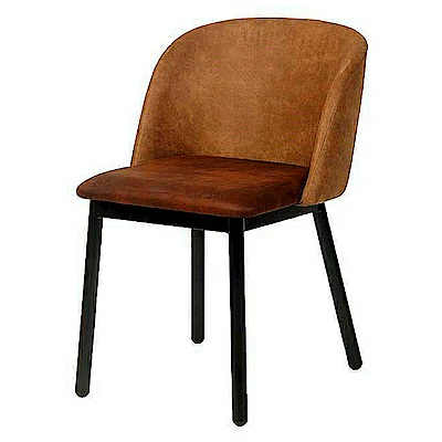 AS-Ella咖布鐵腳餐椅-52x52x78cm