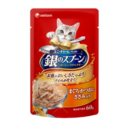 銀湯匙 餐包鮪魚+鰹魚+雞胸肉(60gx12包/盒)