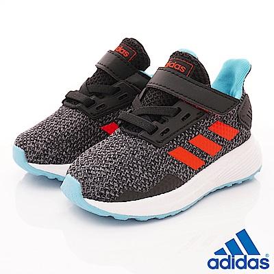 adidas童鞋 輕量針織學步鞋款 ZE826灰黑(寶寶段)